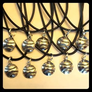 Set of 10 Baseball Party Favors Necklaces